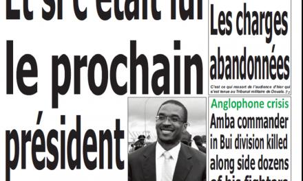 Cameroun : Journal Quotidien émergence parution 13 novembre 2018