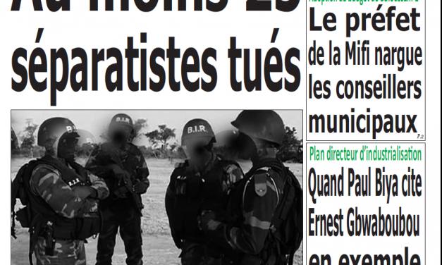 Cameroun : Journal Quotidien émergence parution 15 novembre 2018