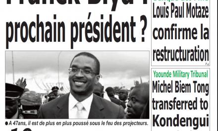 Cameroun : Journal émergence parution 16 novembre 2018