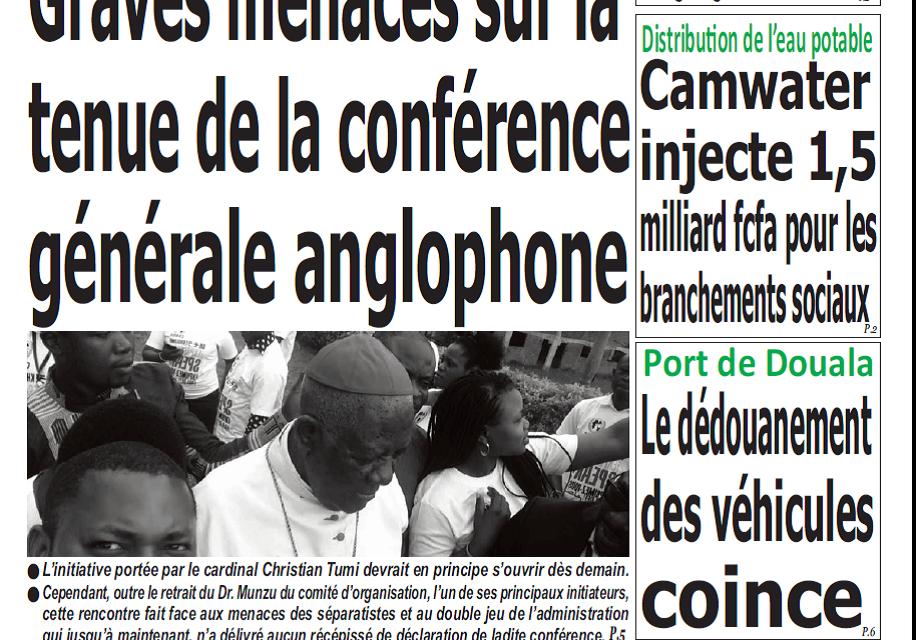 Cameroun : Journal Quotidien parution 20 novembre 2018
