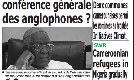 Cameroun : Journal Quotidien émergence parution 23 novembre 2018