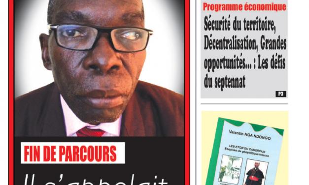 Cameroun : Journal Essingan parution 20 novembre 2018