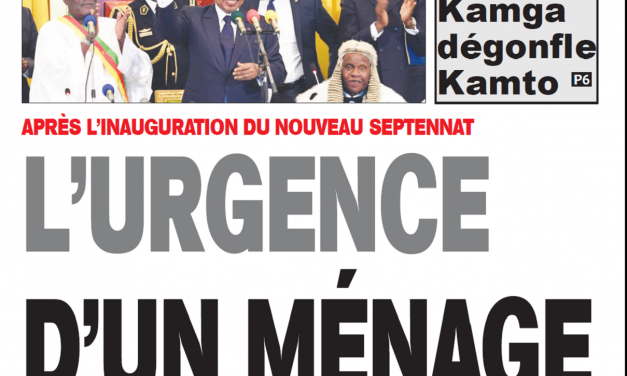 Cameroun  : Journal Essingan parution 08 novembre 2018