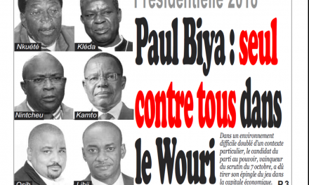 Cameroun : Journal Infomatin parution 02 novembre 2018