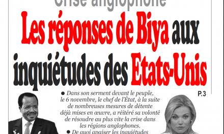 Cameroun : Journal Infomatin parution 09 novembre 2018
