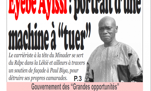 Cameroun : Journal Infomatin parution 20 novembre 2018