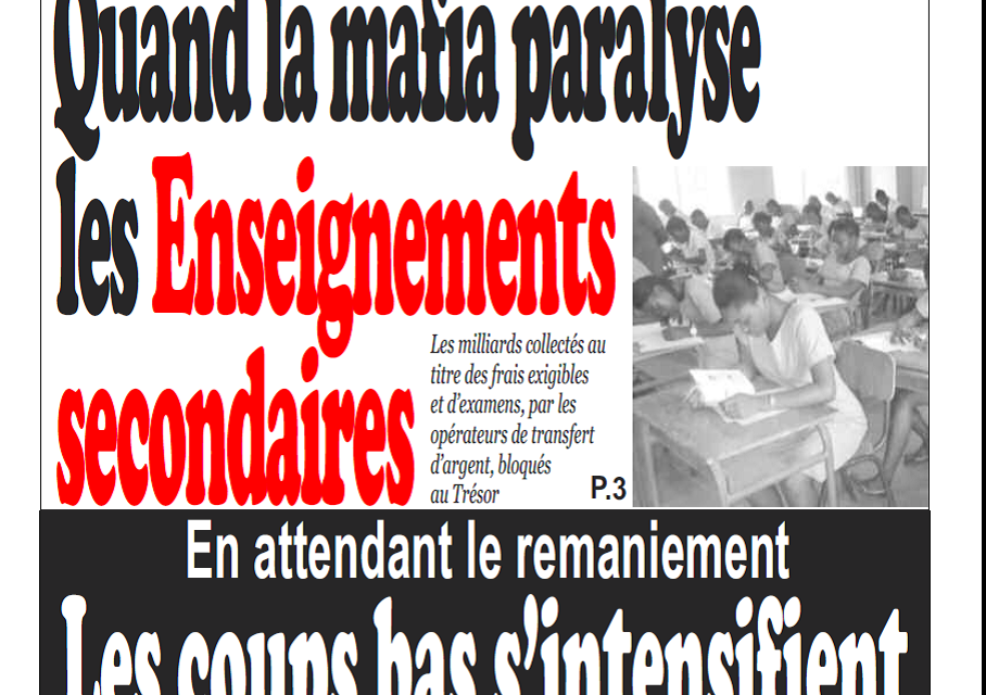Cameroun: Journal Infomatin parution 22 novembre 2018