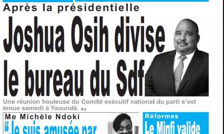 Cameroun : Journal le jour parution 05 novembre 2018