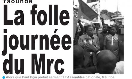 Cameroun : Journal le jour parution 07 novembre 2018
