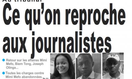 Cameroun : Journal le jour parution 13 novembre 2018