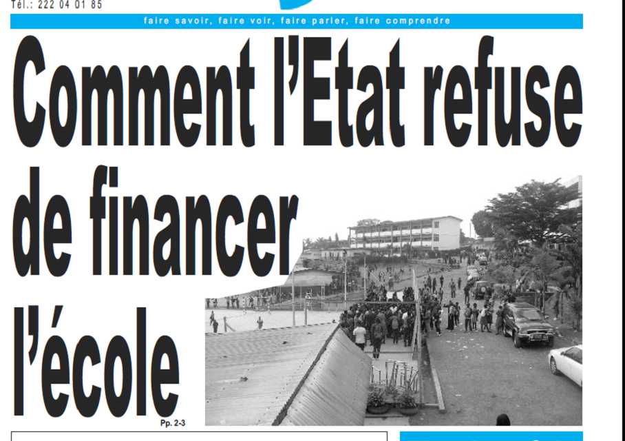 Cameroun : Journal le jour parution 15 novembre 2018