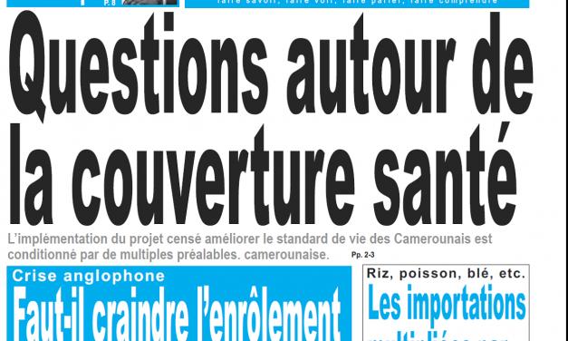 Cameroun : Journal le jour parution 16 novembre 2018