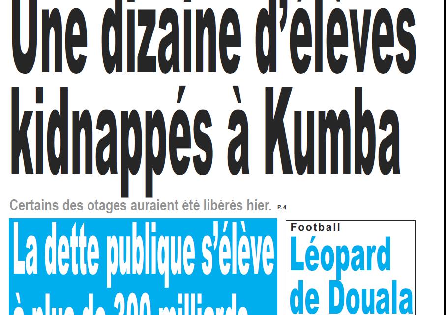 Cameroun : Journal Le jour parution 22 novembre 2018