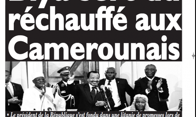 Cameroun : Journal le messager parution 07 novembre 2018
