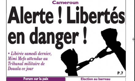 Cameroun : Journal le messager parution 12 novembre 2018