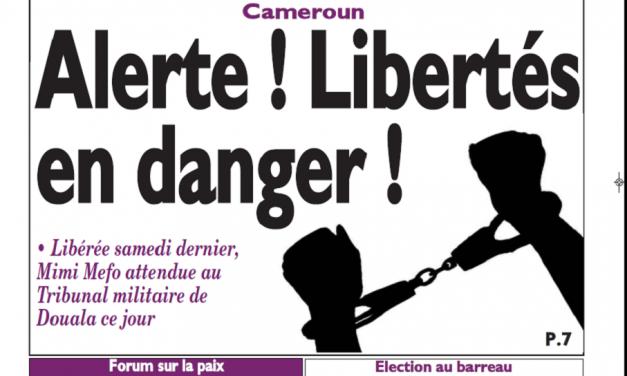 Cameroun : Journal le messager parution 12 novembre 2018