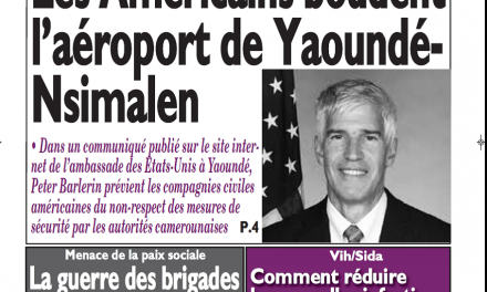 Cameroun : Journal le messager parution 13 novembre 2018