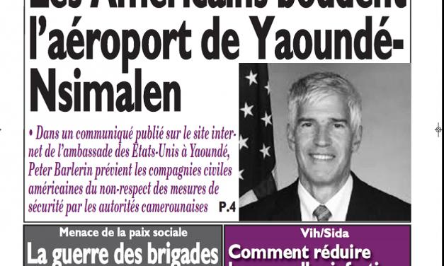 Cameroun : Journal le messager parution 13 novembre 2018