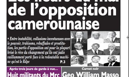 Cameroun : Journal le messager parution 31 octobre 2018