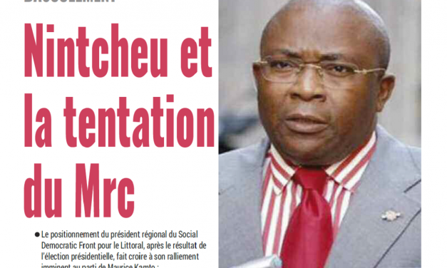 Cameroun : Journal Mutations parution 14 novembre 2018