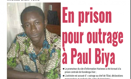 Cameroun : Journal Mutations parution 16 novembre 2018