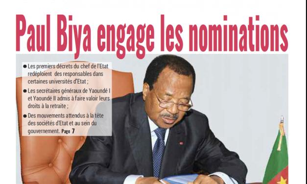 Cameroun : Journal Mutations parution 22 novembre 2018