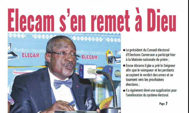 Cameroun : Journal Mutations parution 23 novembre 2018