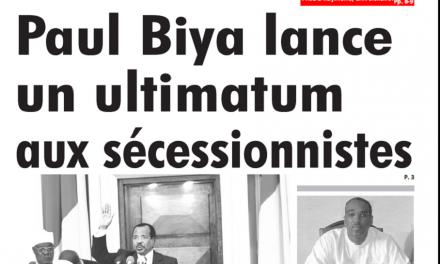 Cameroun : Journal L'œil du sahel parution 07 novembre 2018