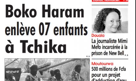 Cameroun : Journal l'Oeil du sahel parution 09 novembre 2018