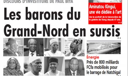 Cameroun : Journal l'œil du sahel parution 12 novembre 2018