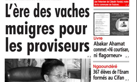 Cameroun : Journal l'œil du sahel parution 16 novembre 2018
