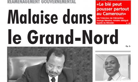 Cameroun : Journal l'œil du sahel, parution du lundi 07 Janvier 2019