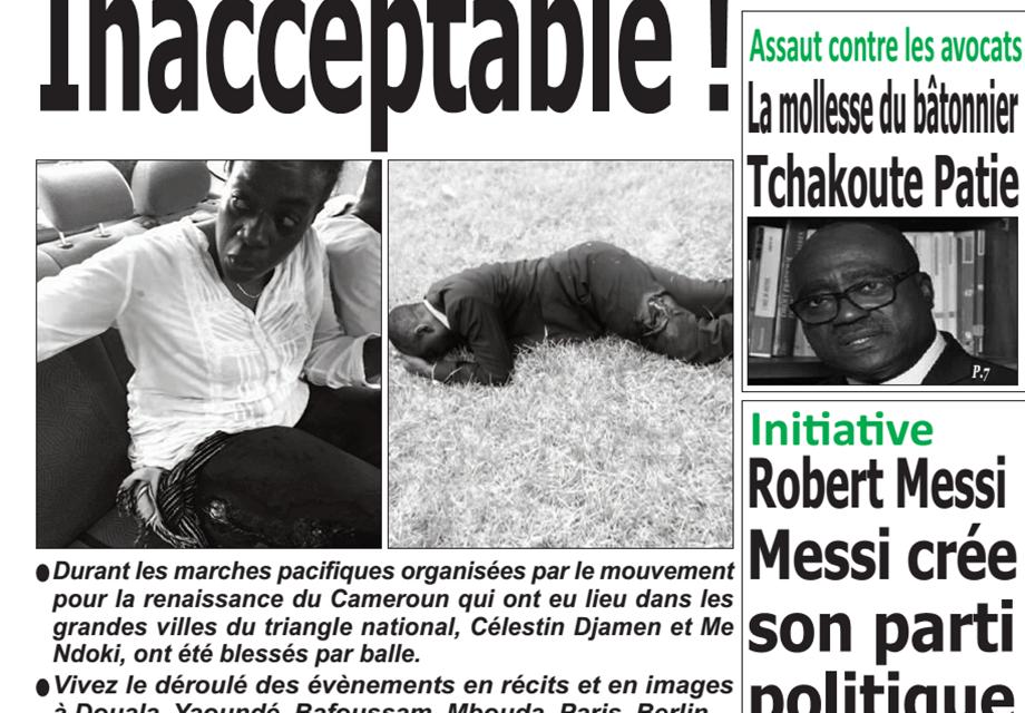 Cameroun : Journal émergence, parution du 28 Janvier 2019