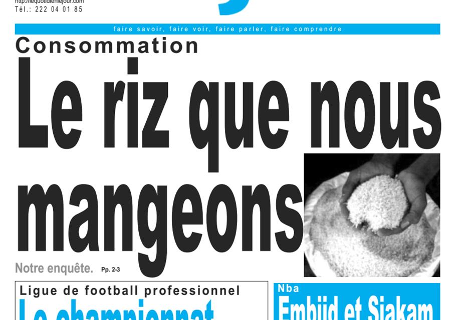Cameroun : Journal le jour, parution 07 Janvier 2019