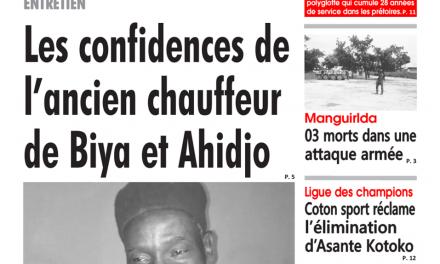 Cameroun : Journal émergence, parution du mardi 22 Janvier 2019