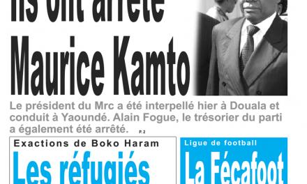 Cameroun : Journal le jour, parution du mardi 29 Janvier 2019
