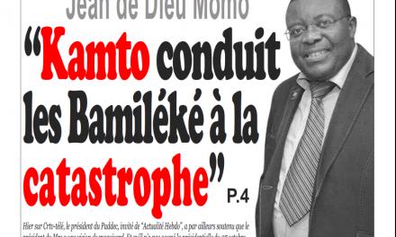 Cameroun : info-matin, parution du 28 Janvier 2019