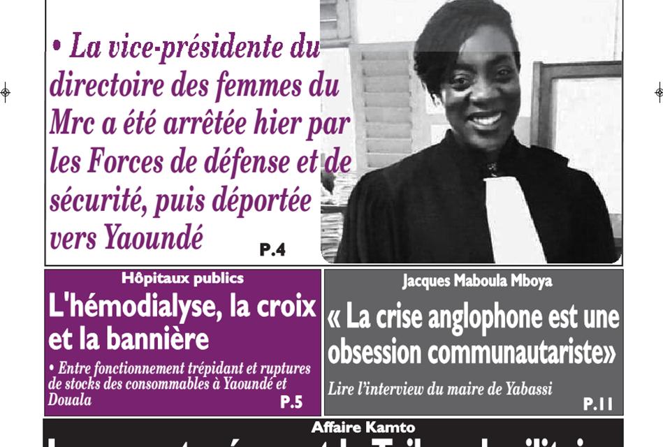 Cameroun:  journal le messager du 27 février 2019